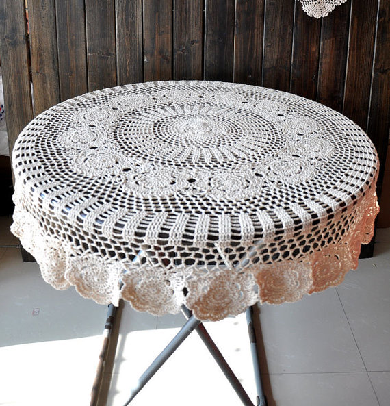 Vintage-Handmade-Crochet-Tablecloth-7