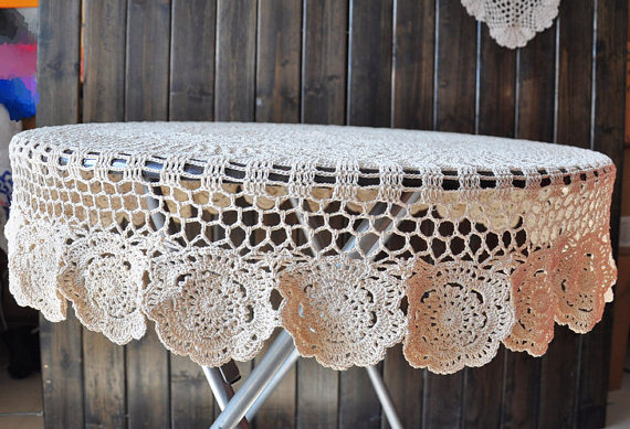 Vintage-Handmade-Crochet-Tablecloth-8