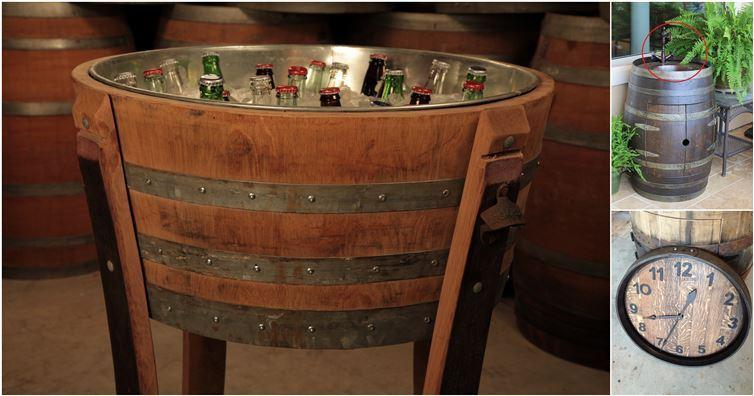 16 id es cr atives avec un tonneau de vin un jour de r ve for Tonneau decoration jardin