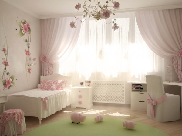 Pink-white-girls-room