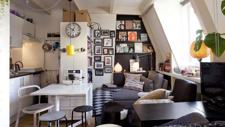 15 grandes id es pour la d coration de petits appartements for Deco sejour studio