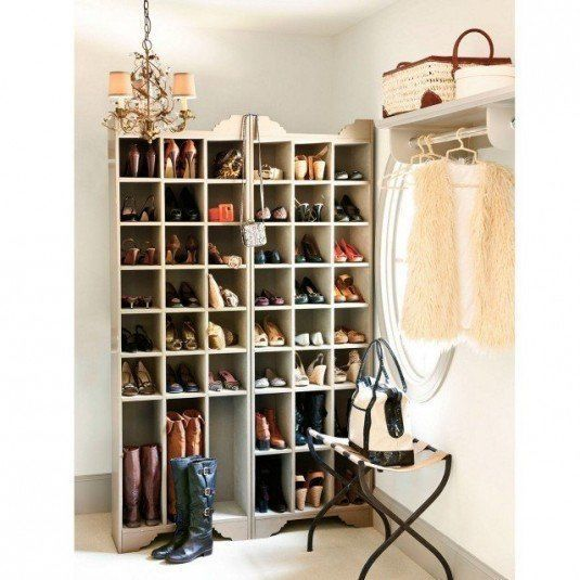 inspiration-furniture-cool-old-chandelier-over-high-shoe-storage-cabinets-with-folding-iron-table-in-white-room-decors-dazzling-shoe-storage-solution-creative-design-ideas-640x640-535x535