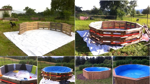 Swimming Pool made out of pallets1
