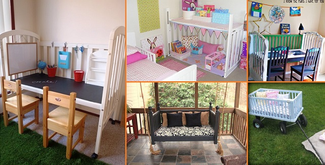 Clever Ideas To Repurpose Old Cribs