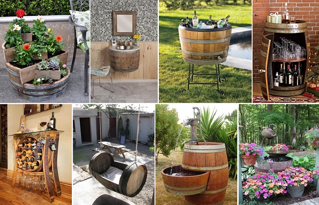 recycle wooden barrel