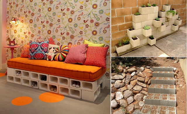 decorate with concrete blocks