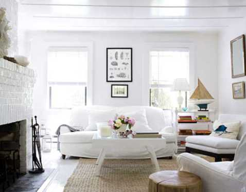 how to decorate a white living room 5