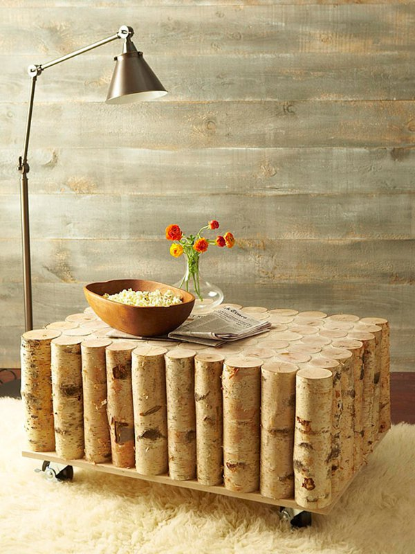 tree log coffee table