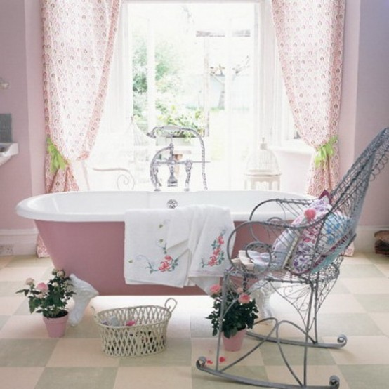 Feminine Bathroom Design 15