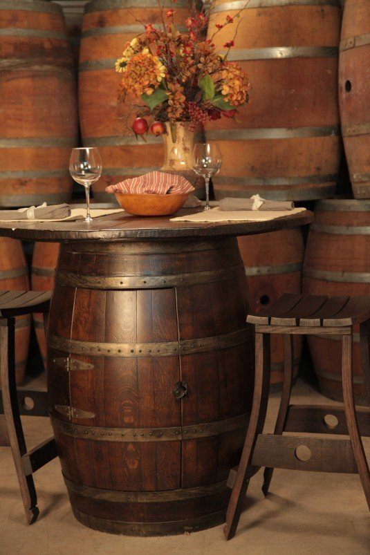 wine barrel bistro table1