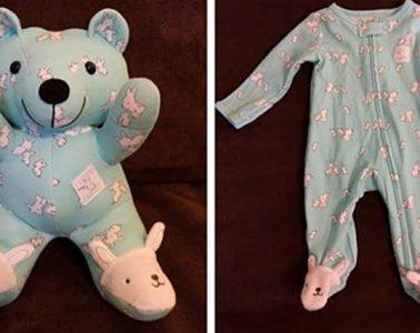 turn baby clothes keepsake memory bears
