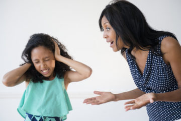 daughter ignoring yelling mother picture id597315627