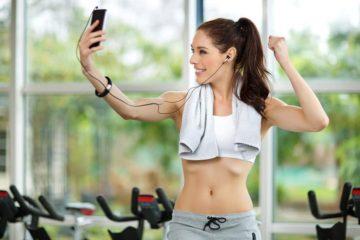 gym selfie instagram