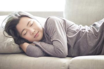 woman napping happiness