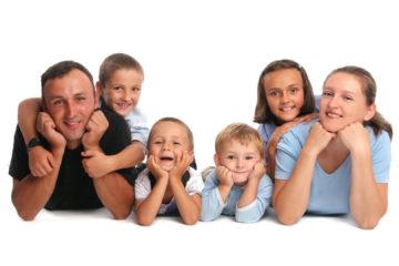 family four children