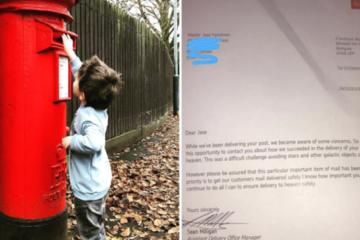 Un petit garcon envoie une lettre a son papa au paradis 725x375