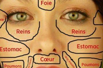 Cette carte du visage de la medecins chinois permet didentifier quelle partie du corps est malade et comment la soigner 725x375