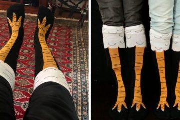 chicken leg socks fb png 700