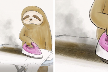 funny sloth illustrations keigo fb26