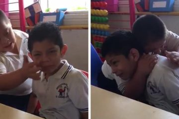 boy down syndrome crying classmate autism video fb4 png 700