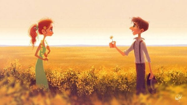 man offering a flower to a girl 600x338 1